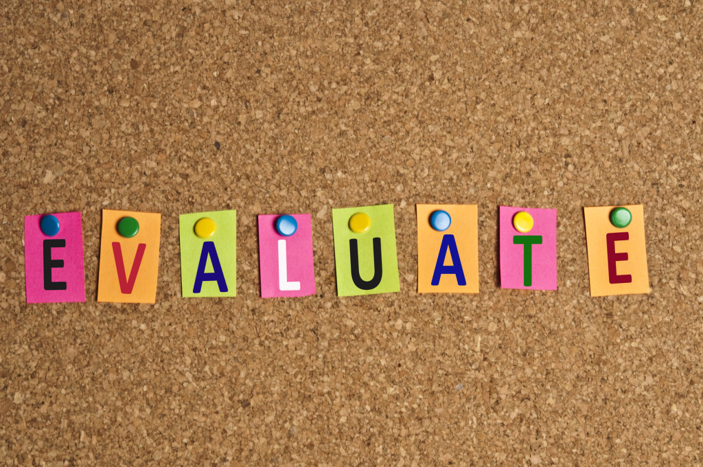 Evaluate word made of post it