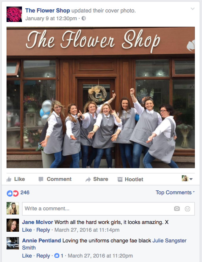Flower Shop Facebook Post