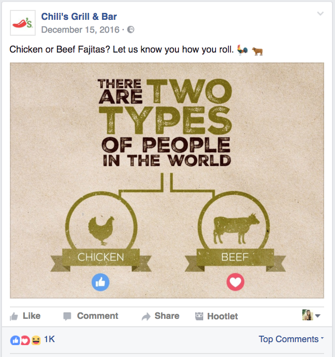 Chiken or Beef Facebook Quiz