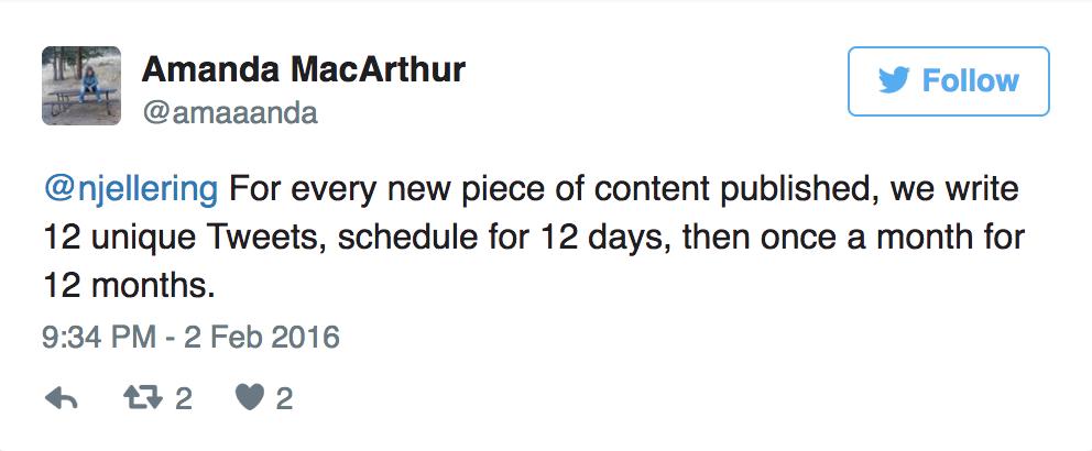 sample tweet example, Amanda MacArthur