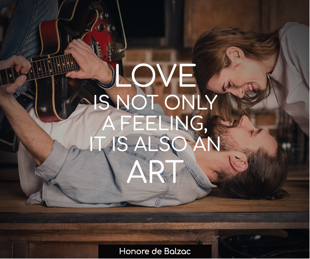 Love is not a feeling, it is an art