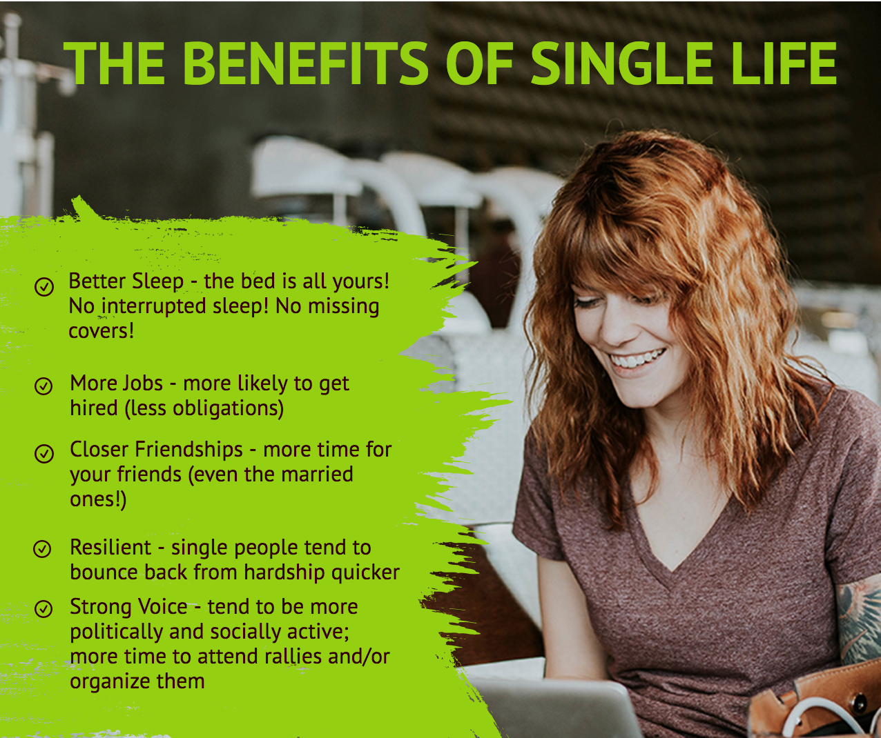 The benefits of single life