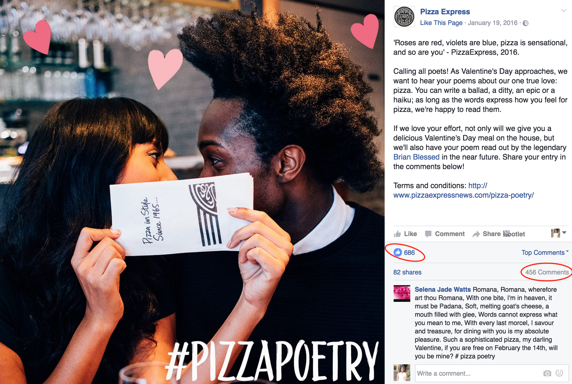 Pizza Express facebook post