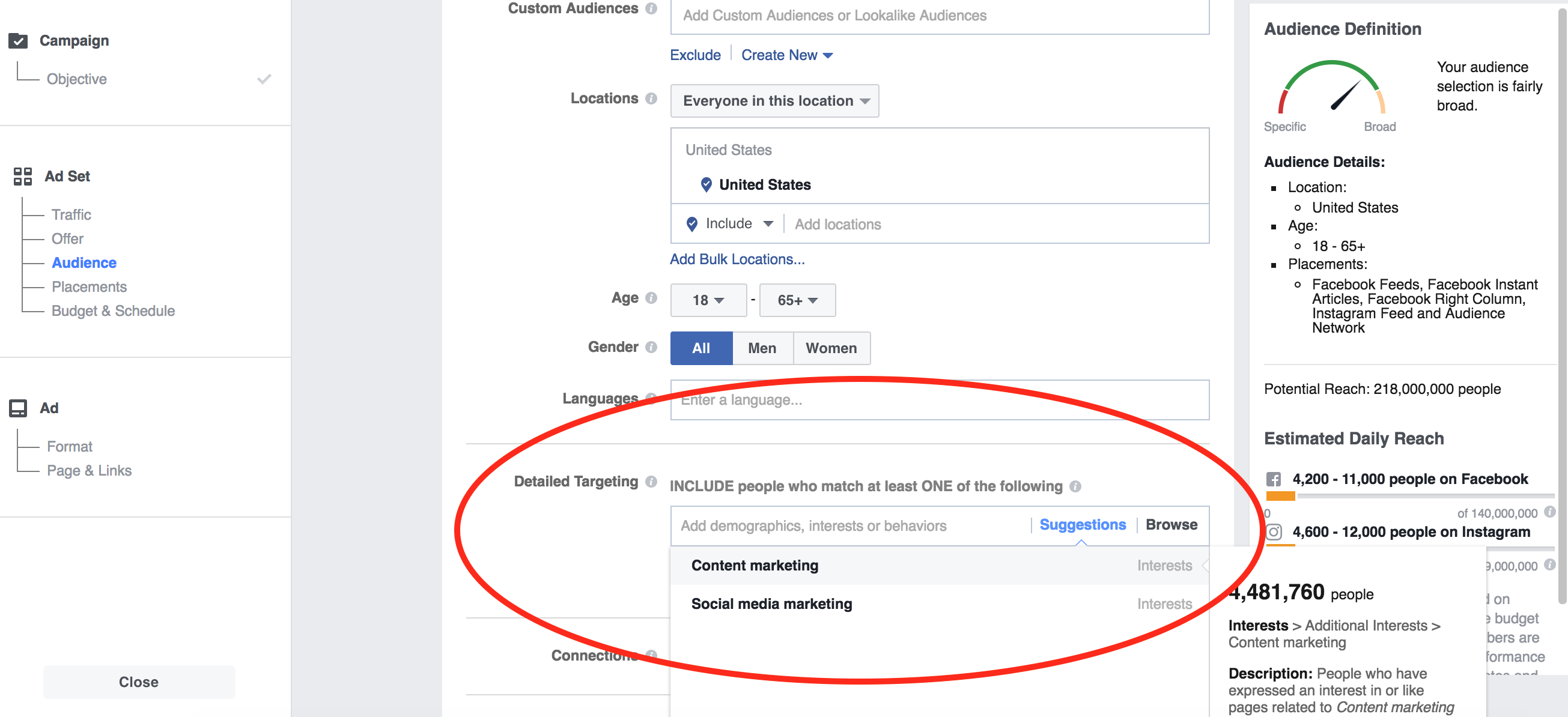 Facebook Ad Targeting img