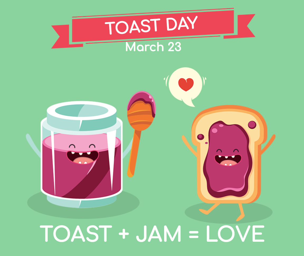Toast day image