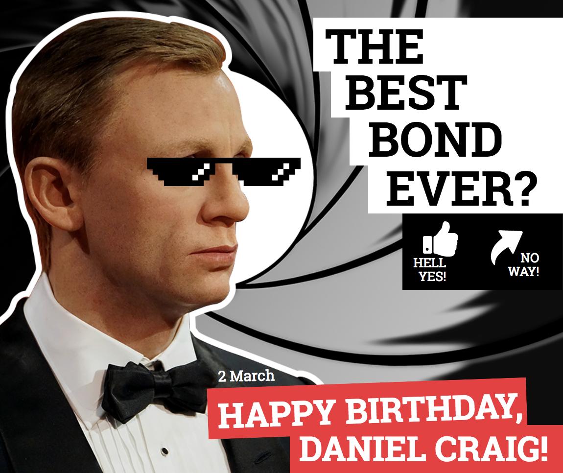 Daniel Craig birthday image