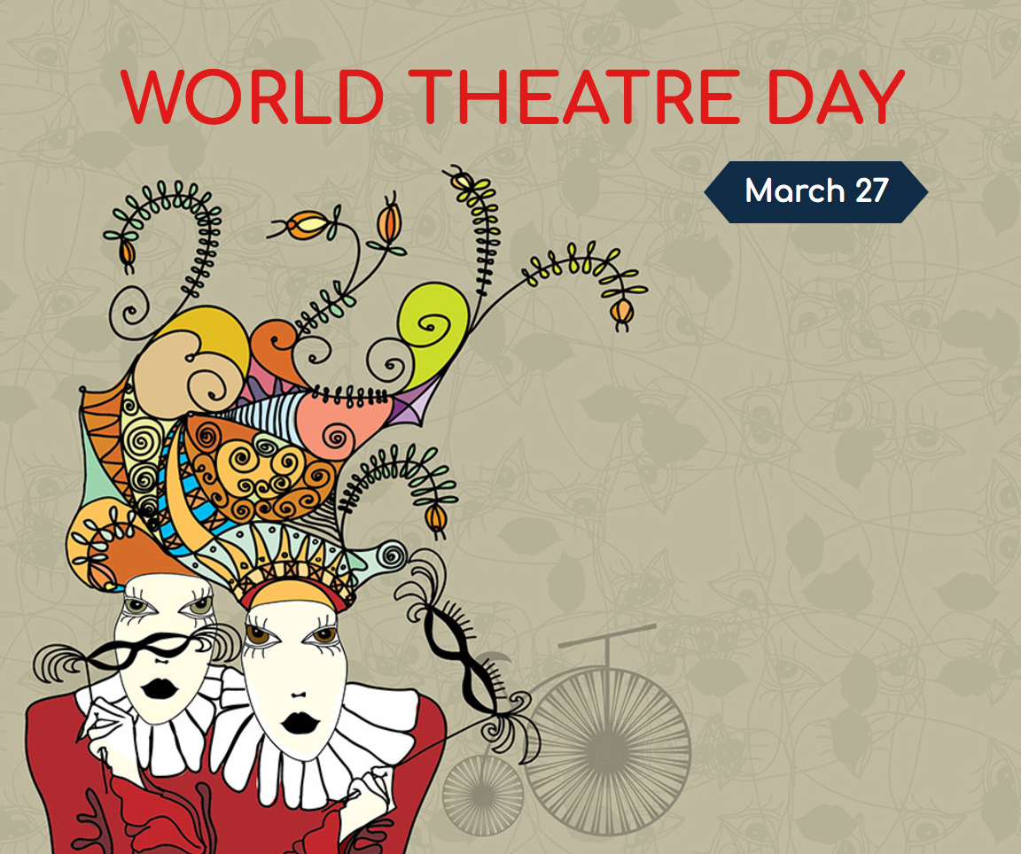 world theatre day image