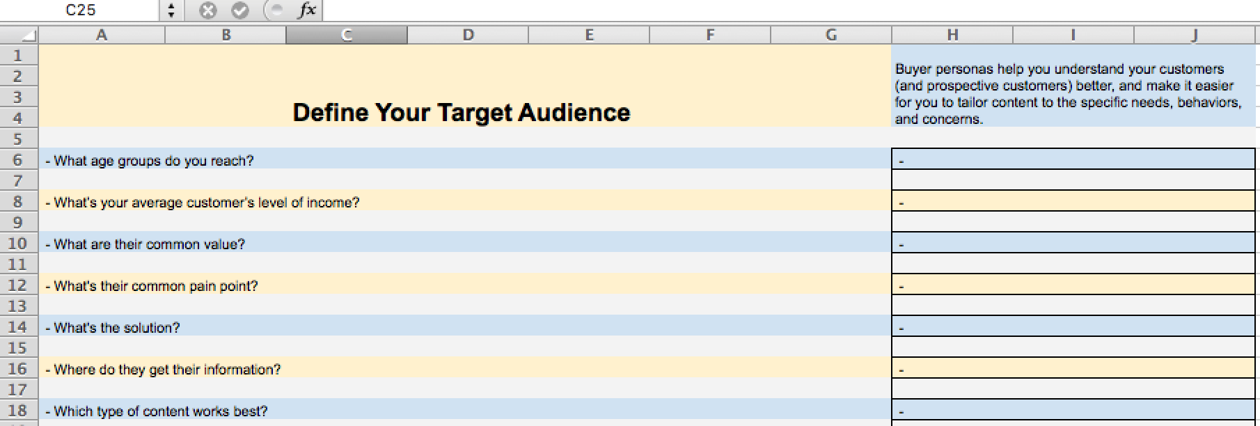 framework to find your target audience