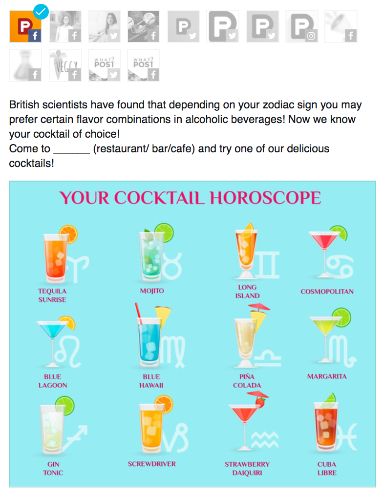 cocktail horoscope image