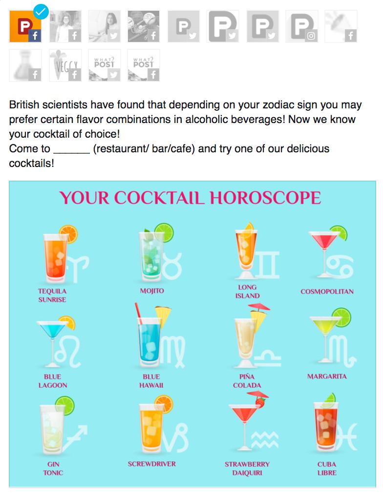 cocktail horoscope image