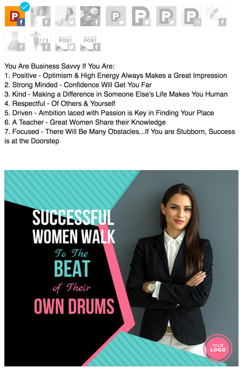 successful woman image