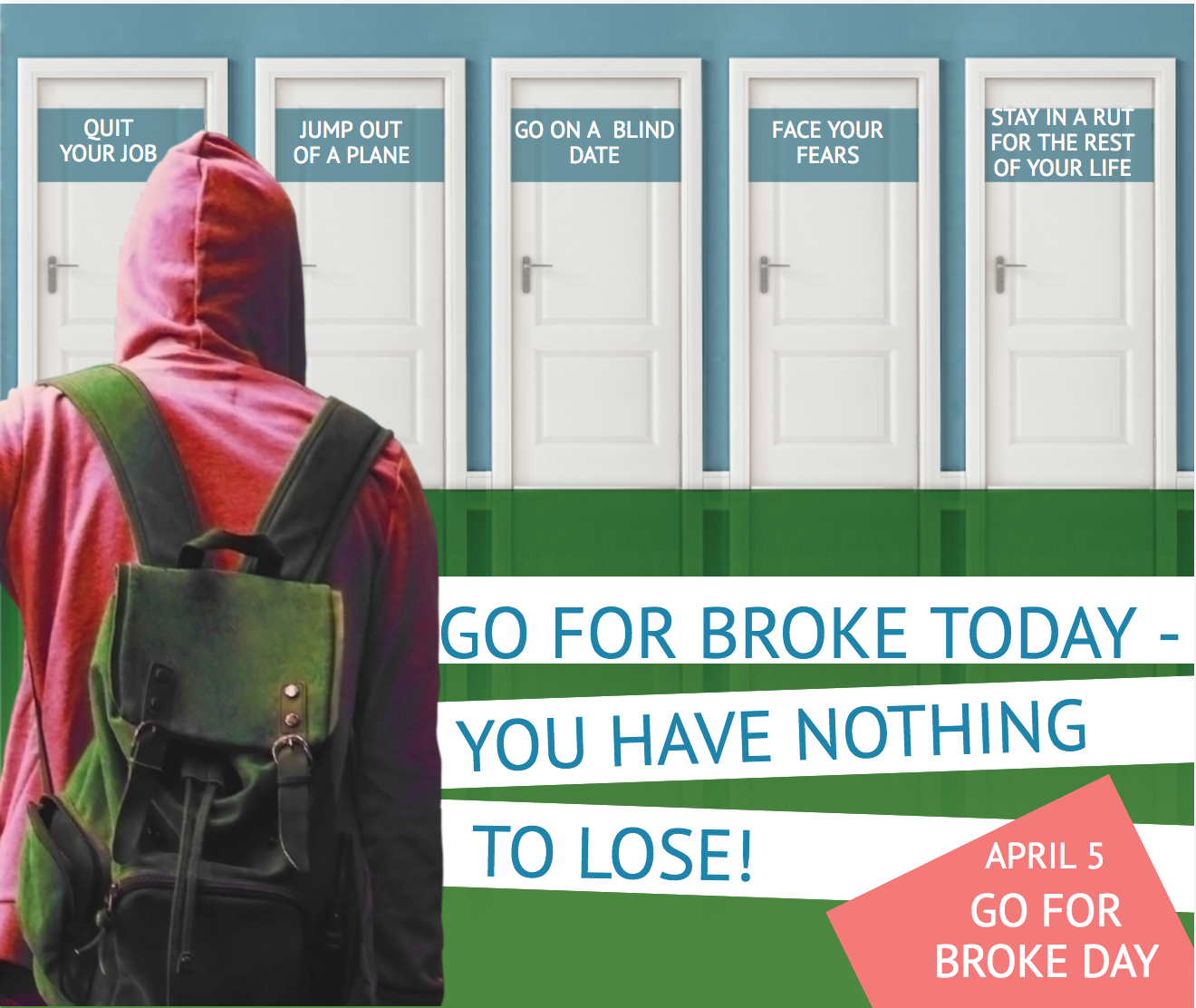 go for broke day image