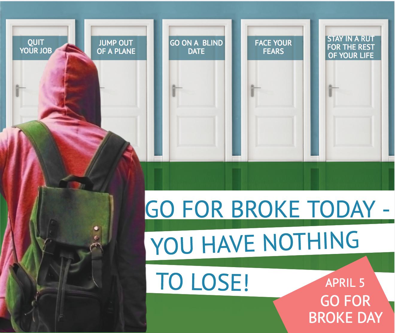 go for broke day image