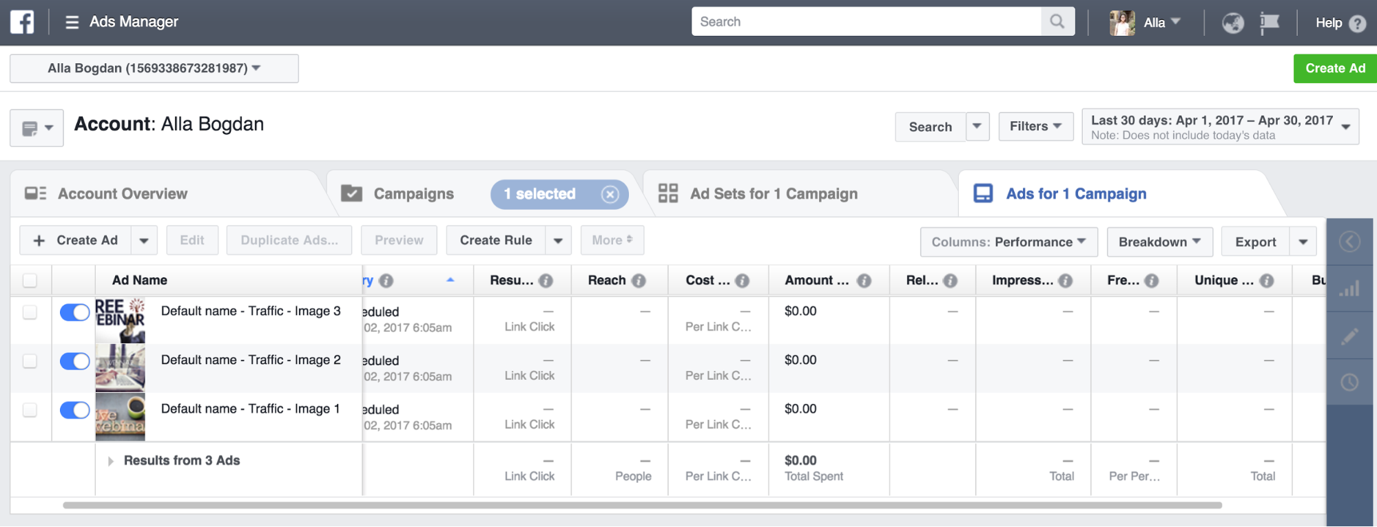 monitor Facebook ad results img