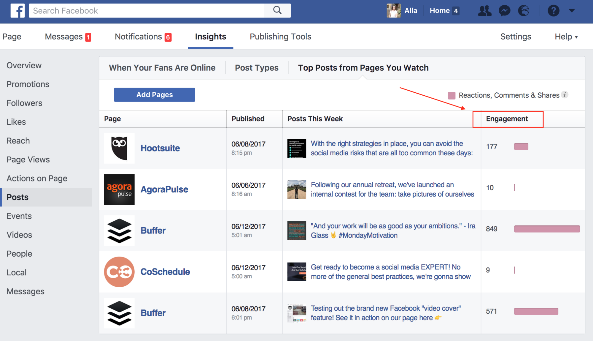 Facebook competitor engagement research img