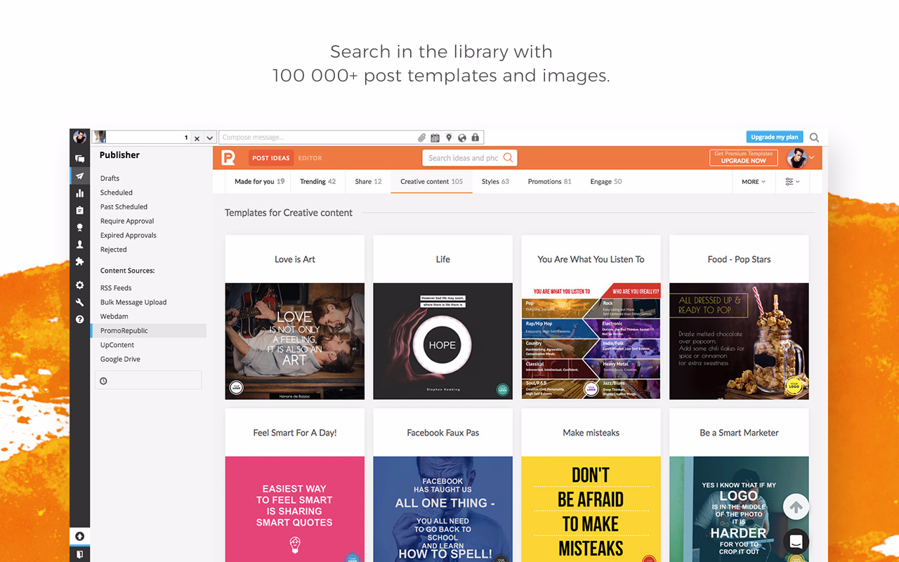 Hootsuite template library - PromoRepublic