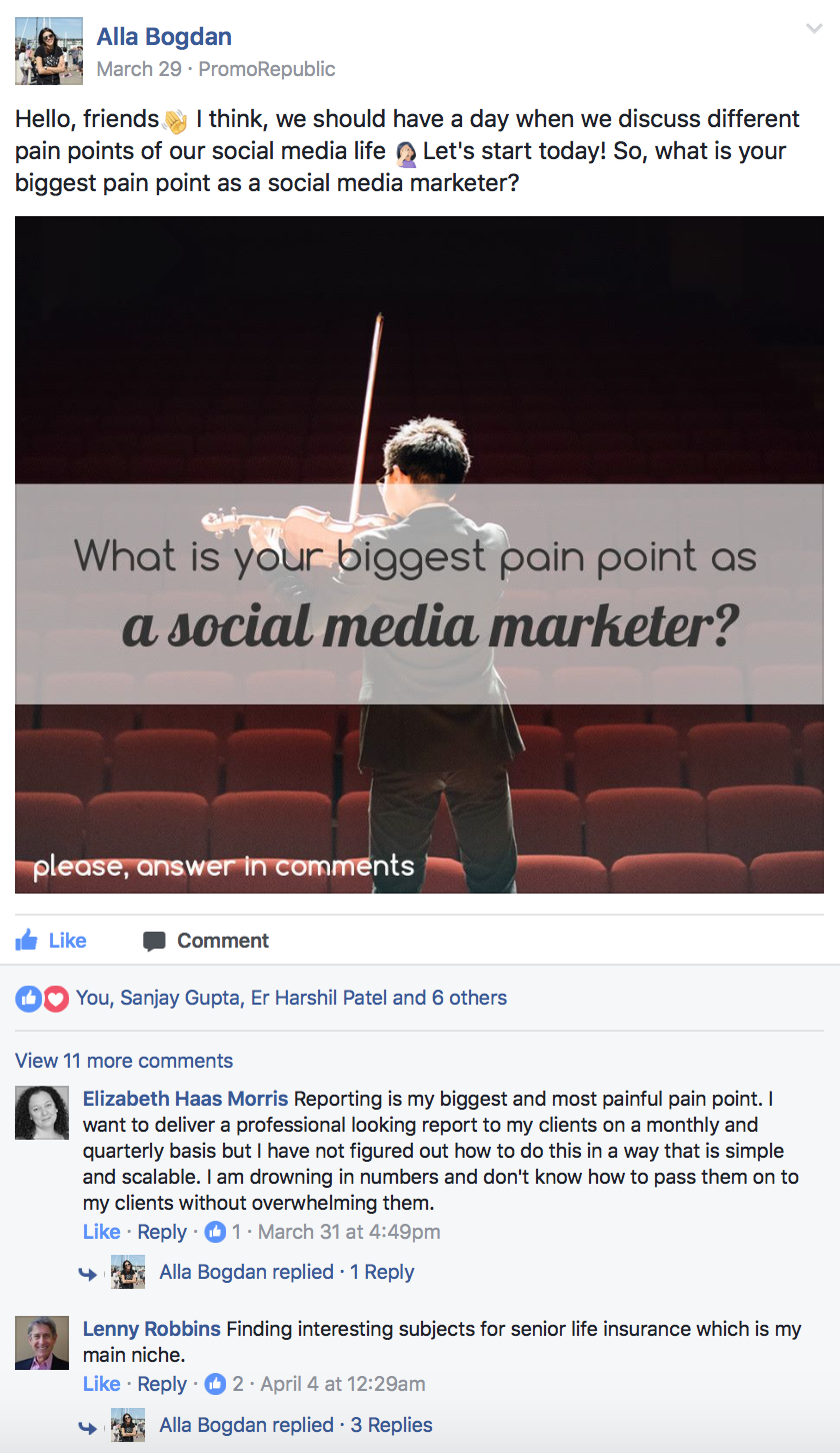 community post example