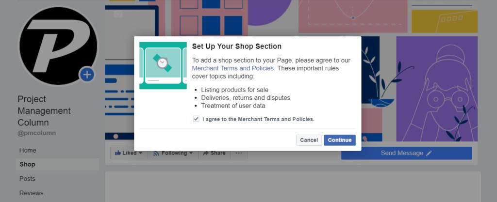 Facebook shop policy