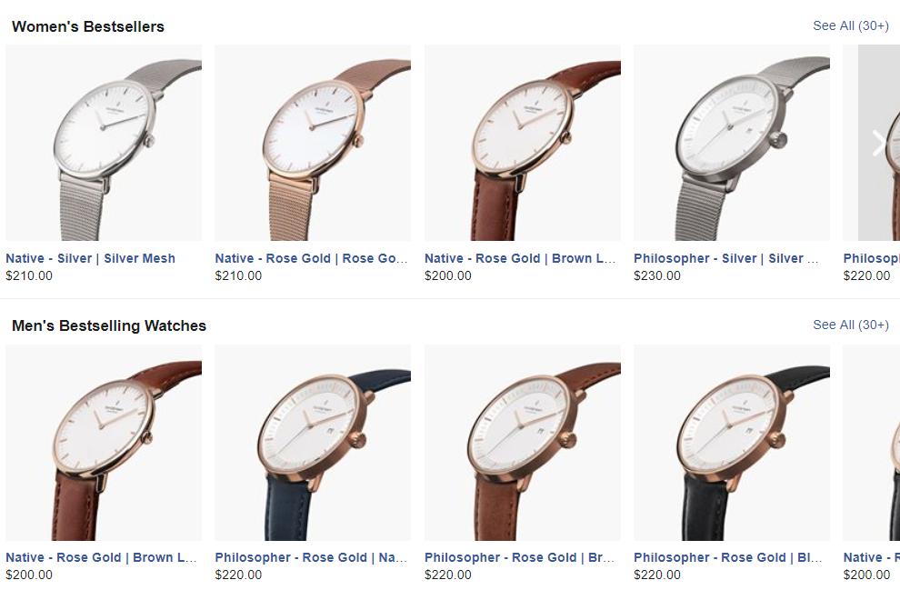 Facebook shop collection