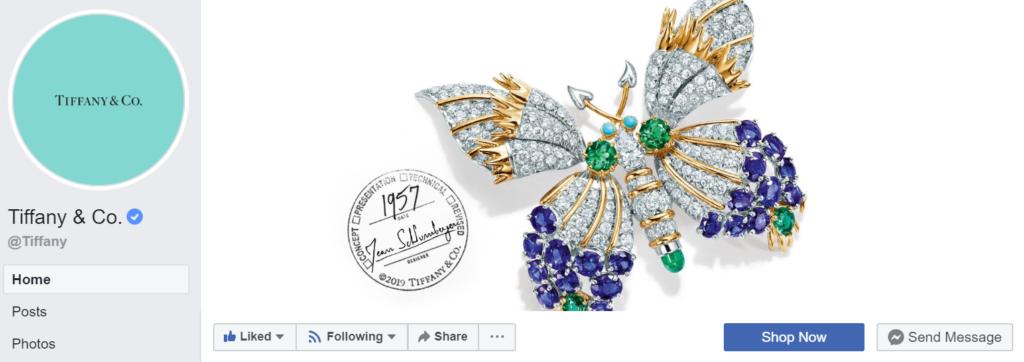 Shop Now button on Facebook