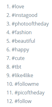best hashtags for likes