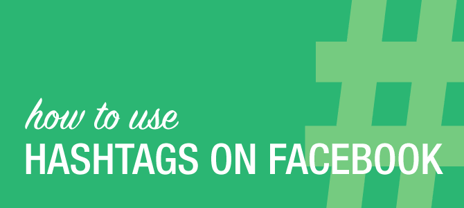 How hashtags on Facebook