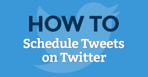 Schedule tweets with Twitter