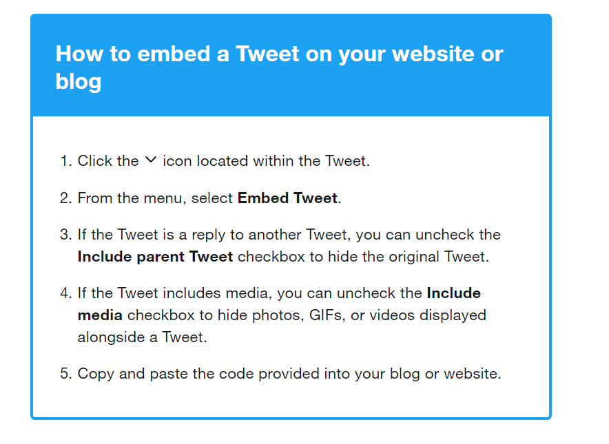 gain twitter followers by embedding tweets on your blog
